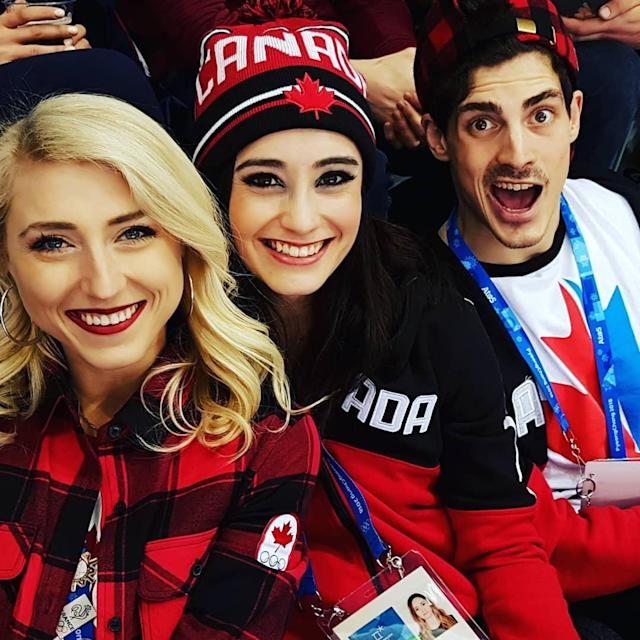 <p>kaetkiss: Celebrating at hockey ! #letsgocanada (Photo via Instagram/kaetkiss) </p>
