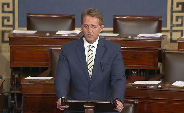 Sen. Jeff Flake of Arizona. (Photo: Senate TV via AP)