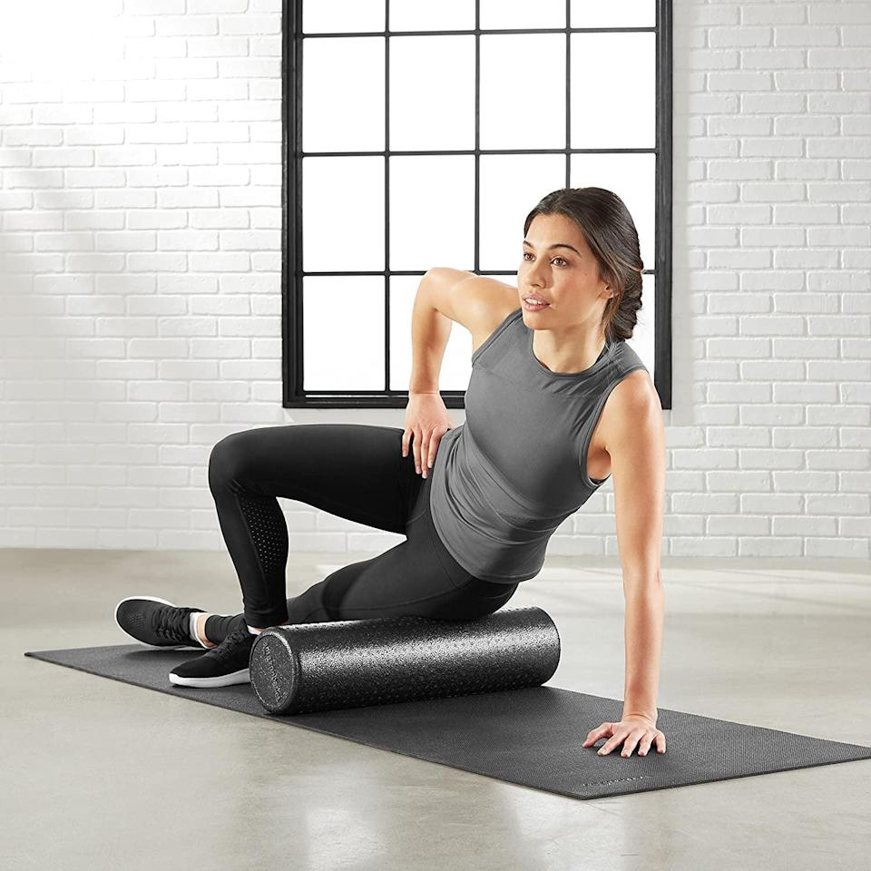 <p>Give your muscles the rest and relaxation they deserve with this <span>Amazon Basics High-Density Round Foam Roller</span> ($19). It's perfect for loosening up the muscles before or after a good workout. </p>
