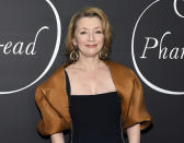 """FILE - Actress Lesley Manville appears at the premiere party for """"Phantom Thread"""" in New York on Dec. 11, 2017. Manville currently stars in the film """"Let Him Go"""" with Kevin Costner and Diane Lane. (Photo by Evan Agostini/Invision/AP, File)"""