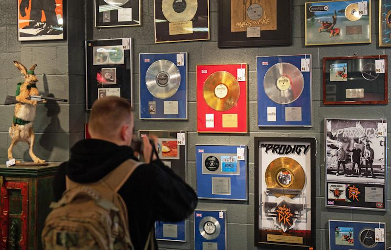 Keith's gold and platinum selling albums (Photo: PA Wire/PA Images)