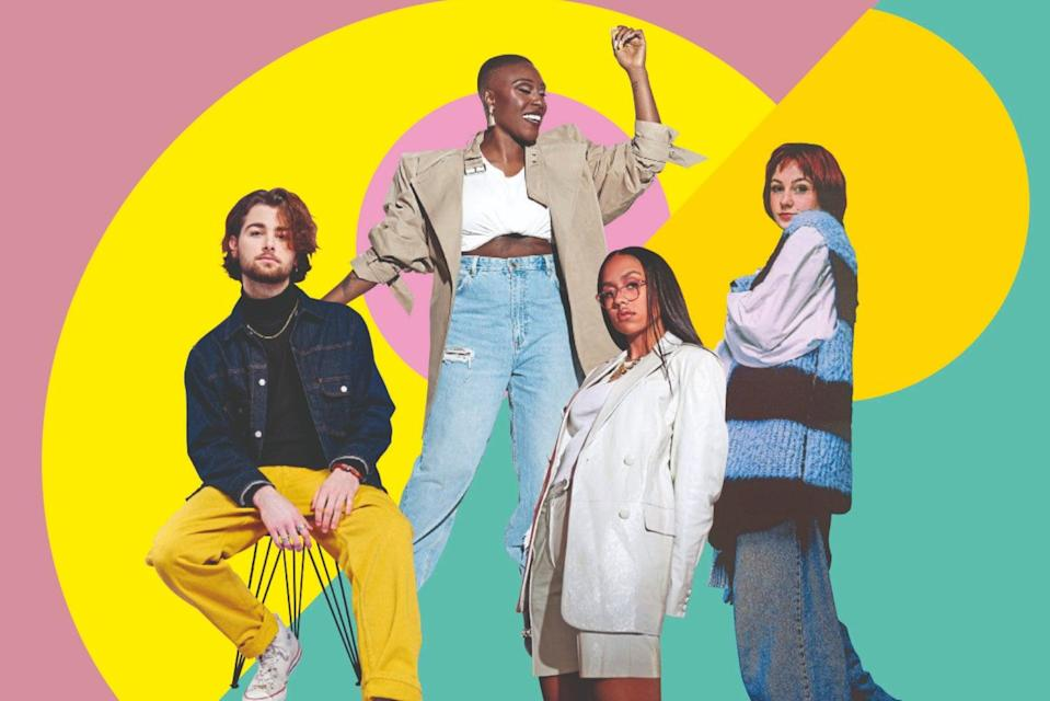<p>Party on: left to right, Hemai, Laura Mvula, Jensen McRae, Molly Payton</p> (Design by Sarah Morley)
