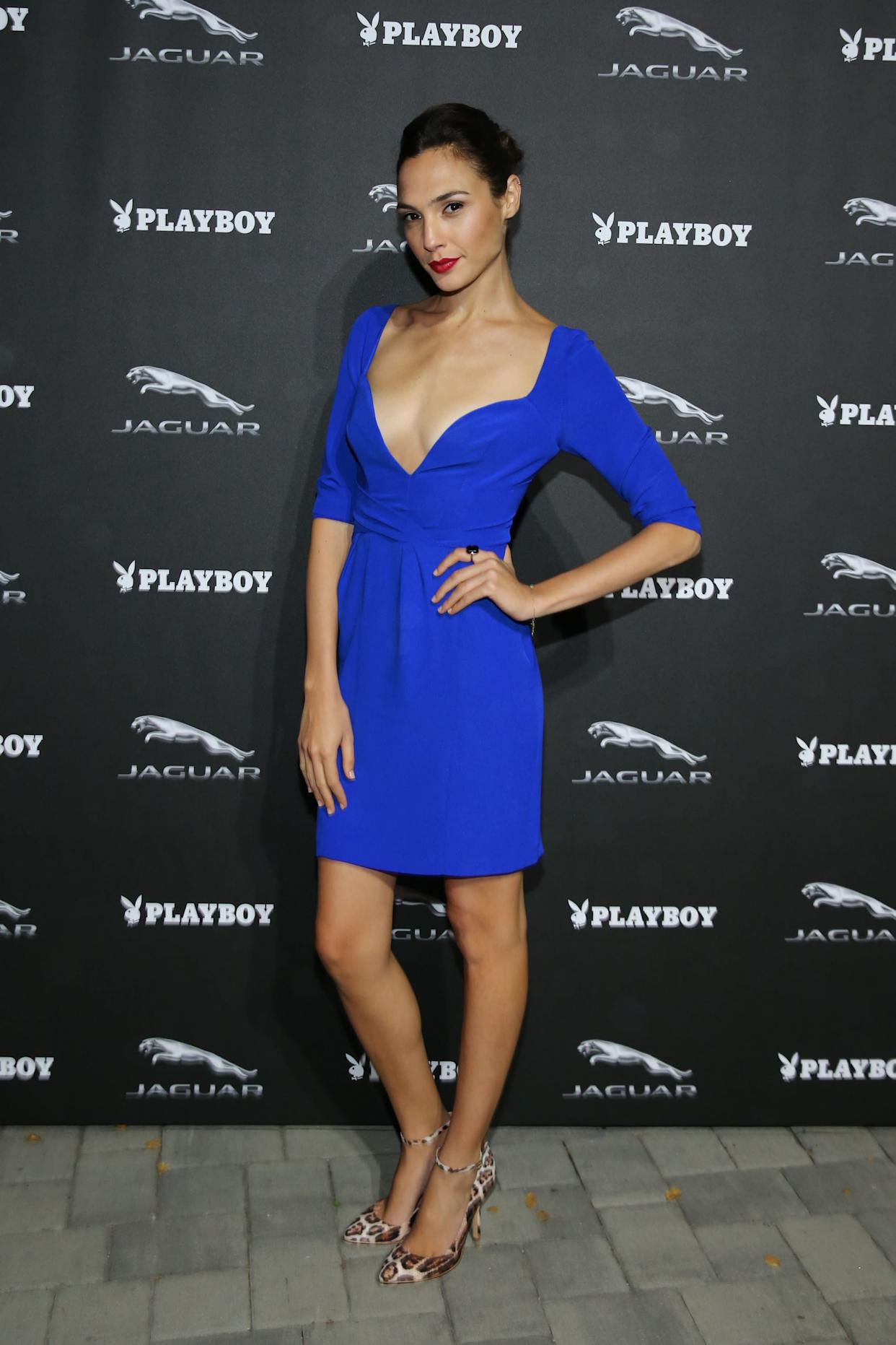 At a reception for Jaguar and Playboy Magazine.