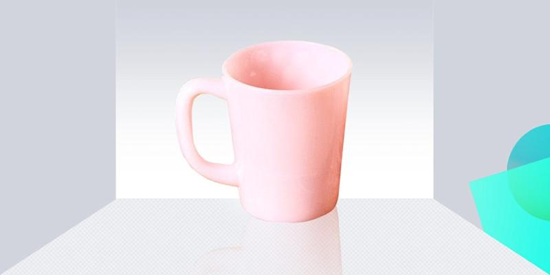 """For the minimalist who likes a little pizazz, we love Moser's milk glass mug in pastel pink. The retro material says """"timeless"""" but the color and shape screams """"fresh and cool!"""" SHOP NOW: Pink milk glass mug by Mosser Glass, $20, comingsoonnewyork.com"""