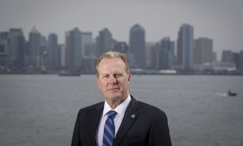 SAN DIEGO, CALIF. -- WEDNESDAY, JANUARY 30, 2019: San Diego Mayor Kevin Faulconer is authoring many homebuilding proposals in San Diego, Calif., on Jan. 30, 2019. Big cities like San Diego in California that are proposing new ways to speed homebuilding. (Allen J. Schaben / Los Angeles Times)
