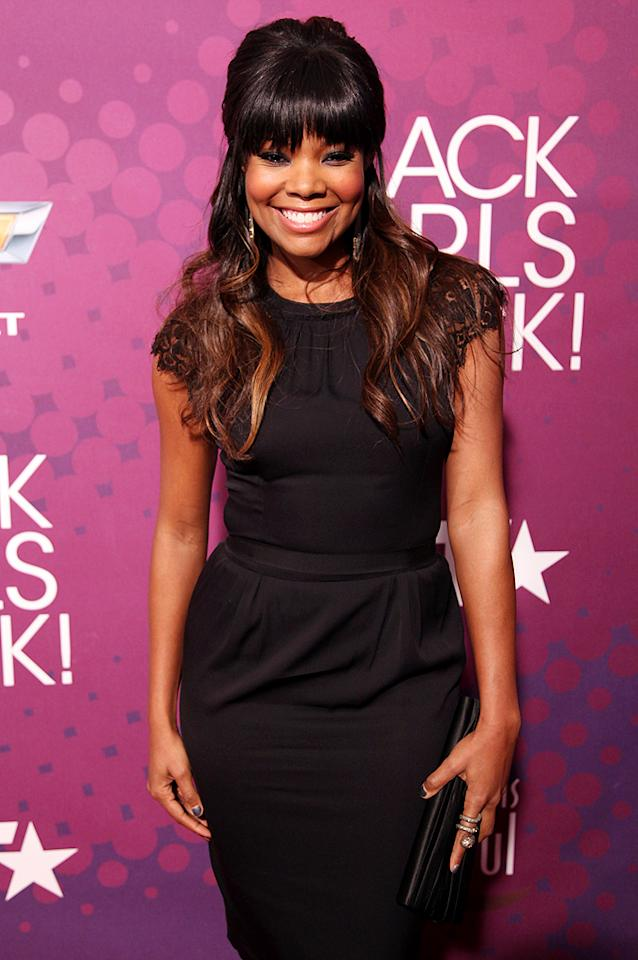 "Gabrielle Union looked stunning (as usual) in a little black dress. The actress recently shared some of her style secrets with <em>People</em> saying, ""Style is about finding things that work, not about brands. Looking good doesn't mean nearly going broke."" (10/13/2012)"