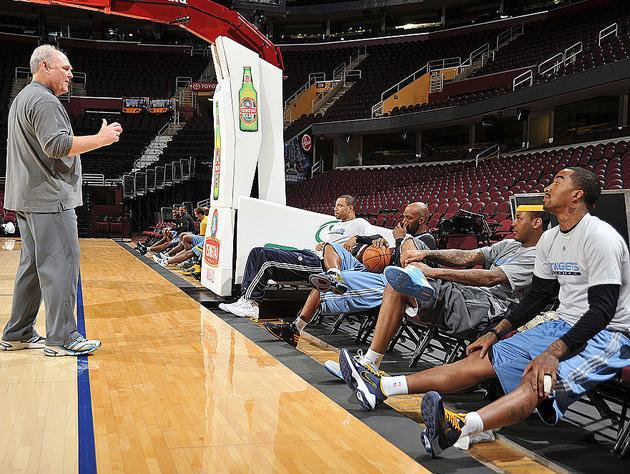 Another fun Denver Nuggets shootaround. (Getty Images)