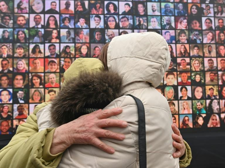 One year on -- in Kiev, relatives remember those killed when Ukraine International Airlines Flight 752 crashed in Iran on January 8, 2020 when Iranian forces accidentally shot it down