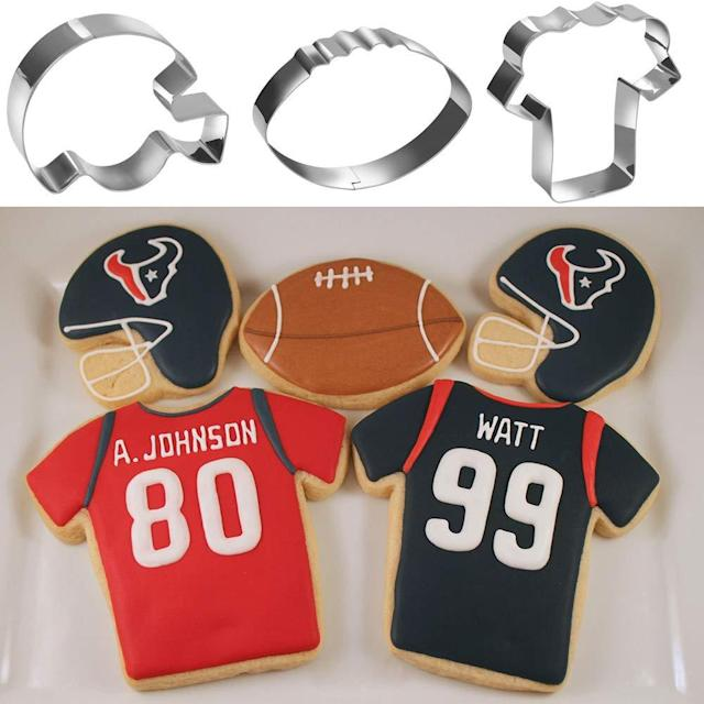 8-Piece Football Cookie Cutter Set. (Photo: Amazon)