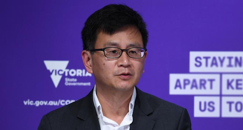 Professor Allen Cheng has urged those in Frankston with symptoms to come forward. Source: AAP
