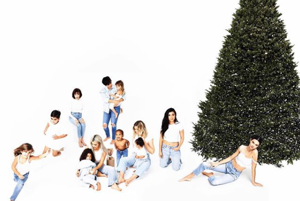 Kylie was noticeably absent from the Kardashian's annual Christmas card. Source: Instagram/KrisJenner