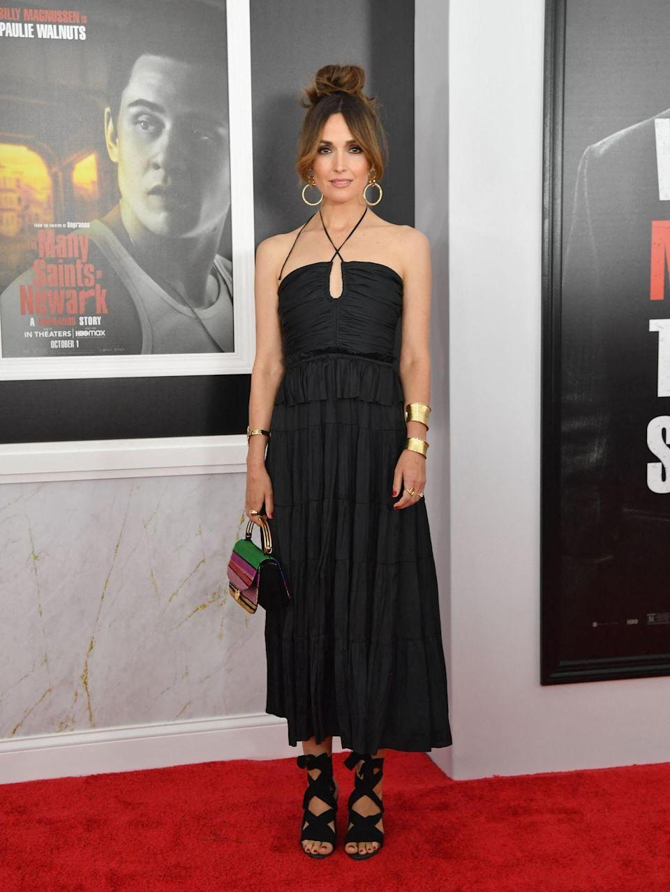 <p><strong>22 September</strong></p><p>Rose Byrne wore an Ulla Johnson dress and wrap-around sandals for The Many Saints of Newark premiere in New York.</p>