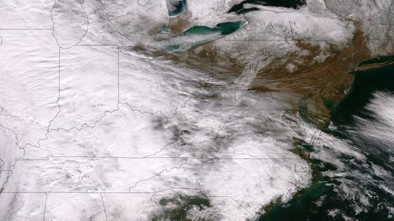 Snowstorm Threatening East Coast Seen from Space