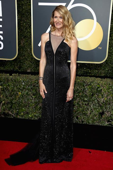 Laura Dern at the 2018 Golden Globes. (Photo: Getty Images)