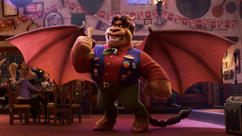Octavia Spencer voiced the Manticore in 'Onward'. (Credit: Pixar)
