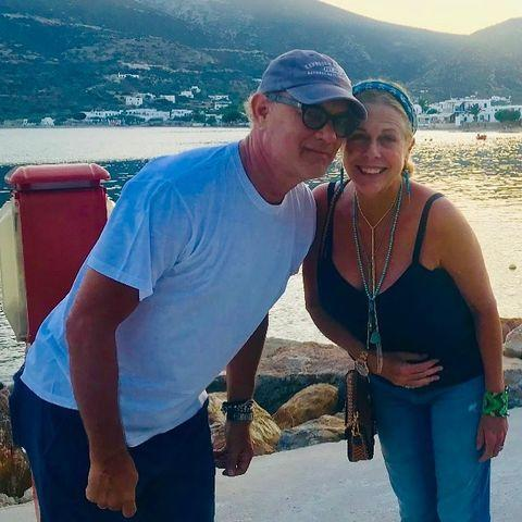"""<p>The actress shared a vacation photo of her and her husband Tom Hanks, whom she called her """"καρδία,"""" which is Greek for """"heart.""""</p>"""
