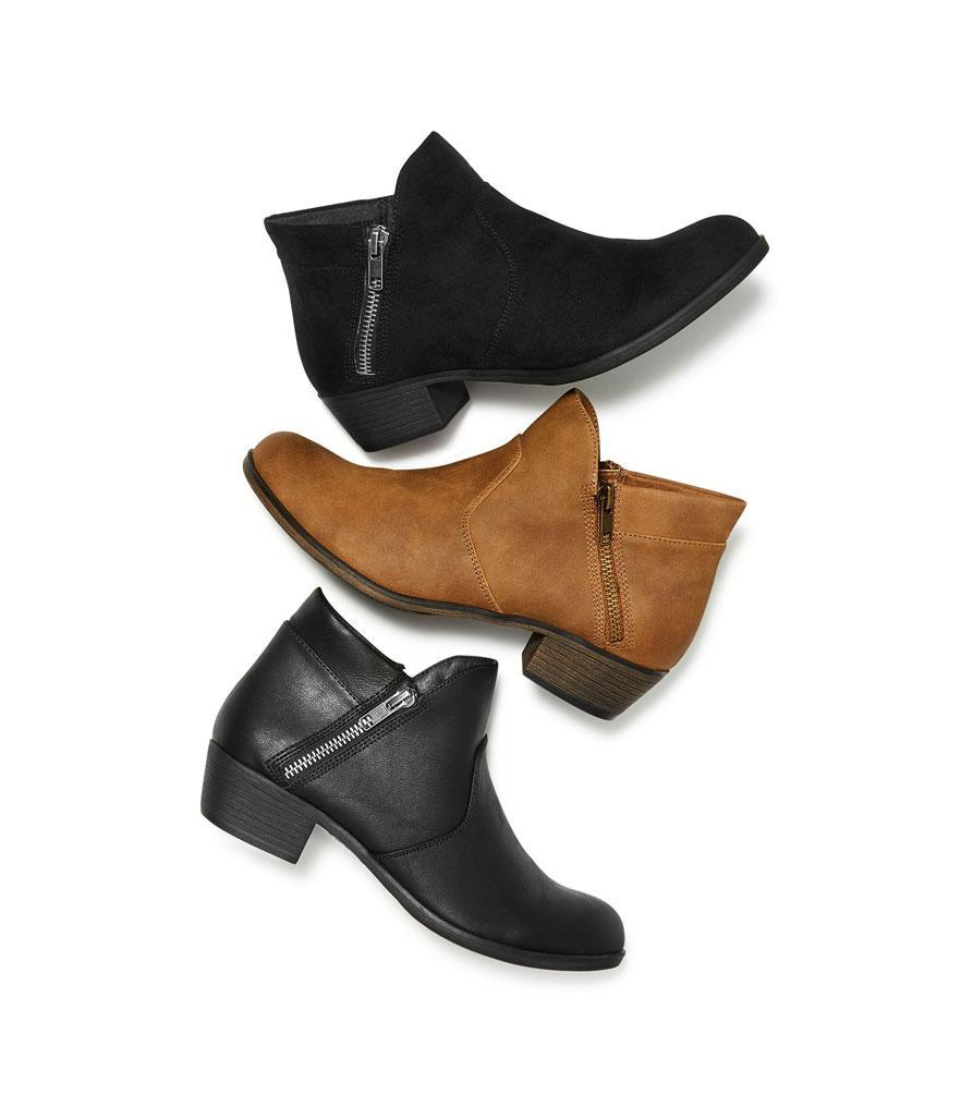 """<p>Zipper detailing is on-trend, and these boots are on sale! Through Nov. 14, they're a whopping 40 percent off. <br><a href=""""https://fave.co/2Ppu9LB"""" rel=""""nofollow noopener"""" target=""""_blank"""" data-ylk=""""slk:Shop it:"""" class=""""link rapid-noclick-resp"""">Shop it:</a> Abby Ankle Booties, $42 (was $70), <a href=""""https://fave.co/2Ppu9LB"""" rel=""""nofollow noopener"""" target=""""_blank"""" data-ylk=""""slk:macys.com"""" class=""""link rapid-noclick-resp"""">macys.com</a> </p>"""