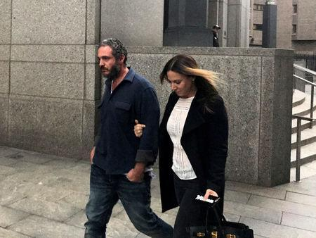 FILE PHOTO: Joseph Meli and his wife Jessica Meli exit U.S. Federal Court in Manhattan New York