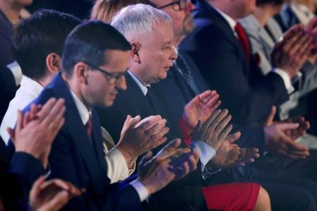 FILE PHOTO: Poland's Law and Justice (PiS) party convention ahead of the EU election, in Krakow