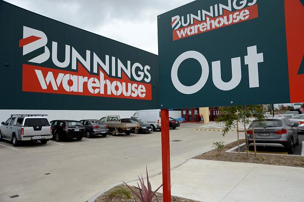 Bunnings Warehouse signage is displayed outside a Melbourne store.
