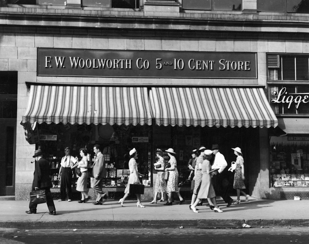 "<p>Founded in 1879 by Frank Winfield Woolworth, the company's first stores in Utica, New York, and Lancaster, Pennsylvania sold general merchandise and were called <a href=""https://www.housebeautiful.com/lifestyle/g4051/five-and-dime-stores/"" target=""_blank"">""five-and-dime's"" because everything sold for 10 cents or less</a>. The chain grew quickly, and by 1905, Woolworth invited rival retailer chains (two were owned by his relatives!) to merge with him. By 1929, there were 2,250 stores. The company purchased other chains over the years, including <a href=""https://www.footlocker.com/"" target=""_blank"">Footlocker</a>, though Woolworth variety stores closed in 1997. </p>"