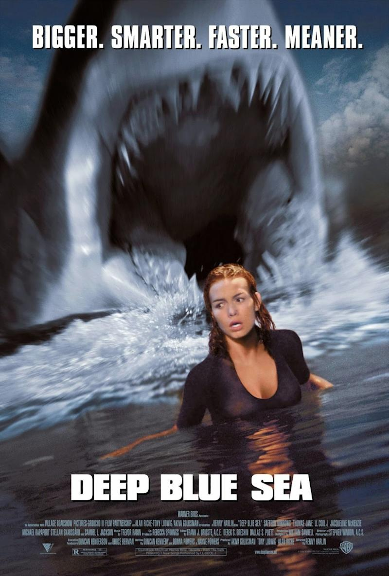 The poster for Deep Blue Sea. (WB)