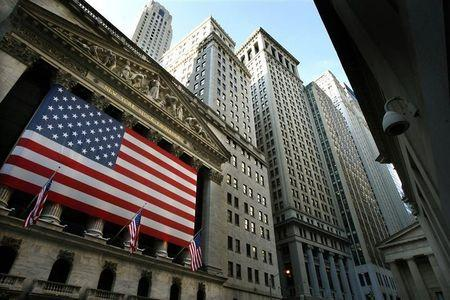 Wall St edges up on telecom gains; Fed meet in focus