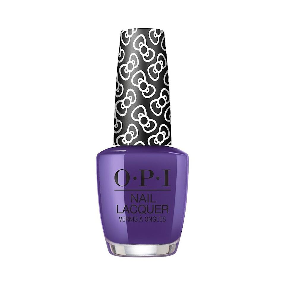 <p>For a rich pop of color, you can't go wrong with this jewel-toned violet from OPI's Hello Kitty collection. </p>