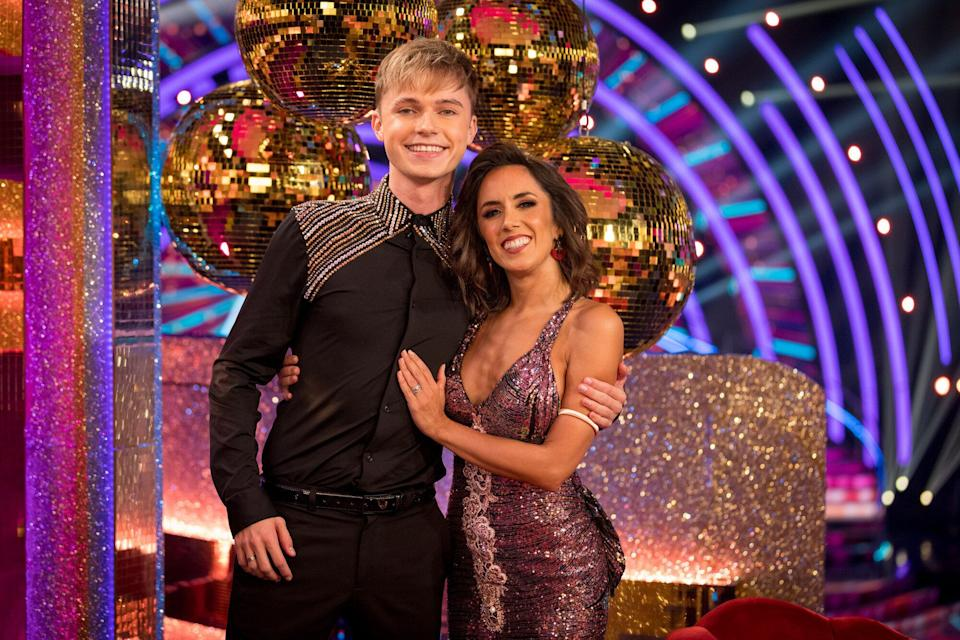 HRVY has been partnered with Janette Manrara (Photo: BBC/Guy Levy)