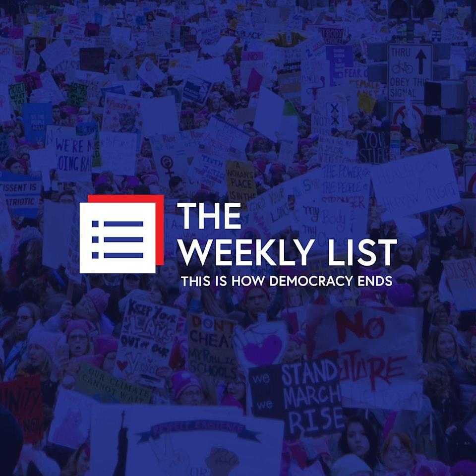 "<p>Former Wall Street executive Amy Siskind lends her sharp and critical mind to <em>The Weekly List</em>, a podcast examining the ""new normal of American politics"" under the Trump administration. Each week Siskind dissects a news event so divergent from society's pre-established standards and sheds light on just how detrimental it could be.</p><p><a class=""link rapid-noclick-resp"" href=""https://anchor.fm/the-weekly-list"" rel=""nofollow noopener"" target=""_blank"" data-ylk=""slk:LISTEN NOW"">LISTEN NOW</a></p>"