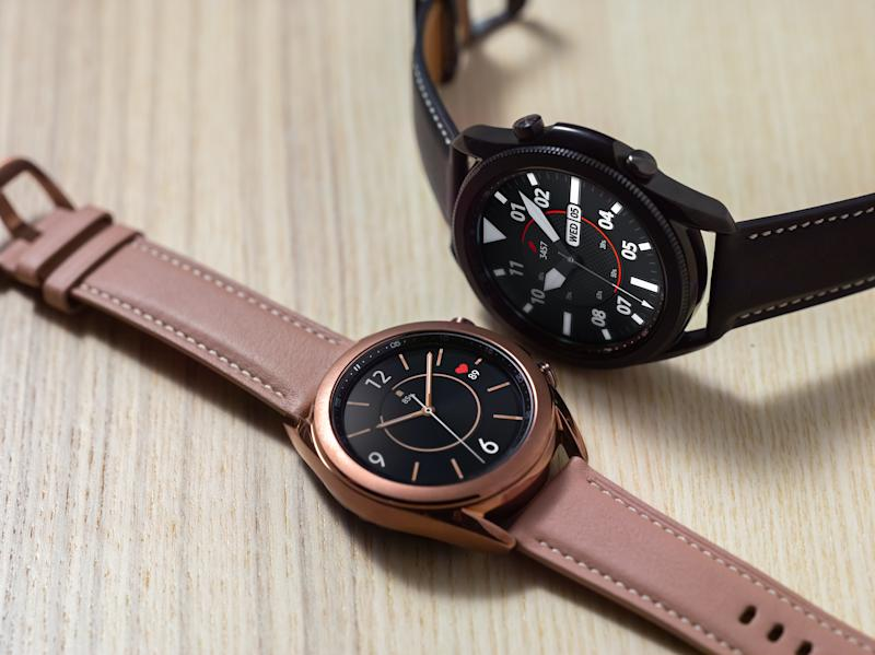 Samsung's Galaxy Watch3 comes with either a 41mm or 45mm watch face. (Image: Samsung)