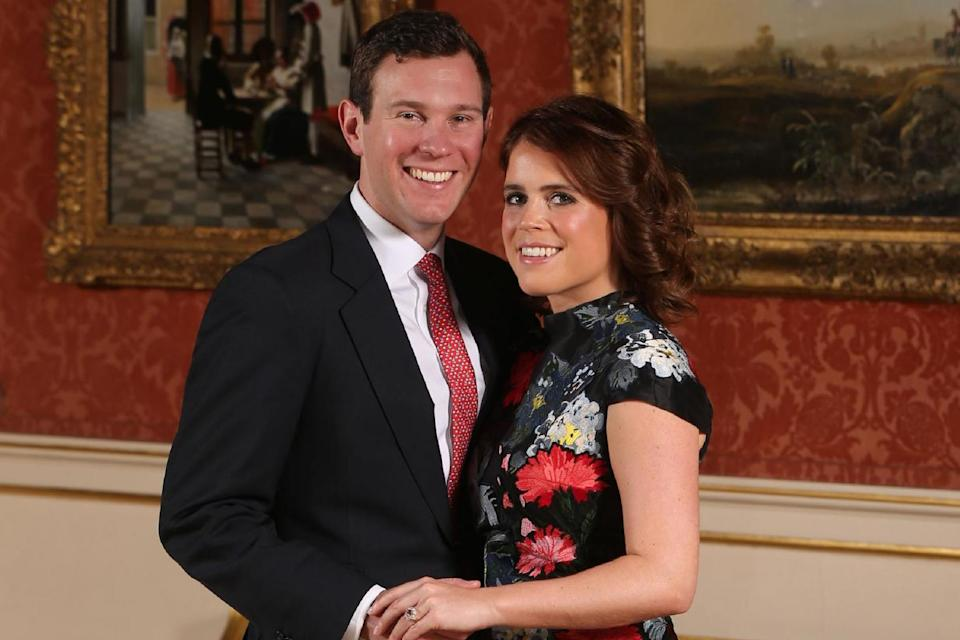 <p>Princess Eugenie and Mr Brooksbank</p>AFP/Getty Images