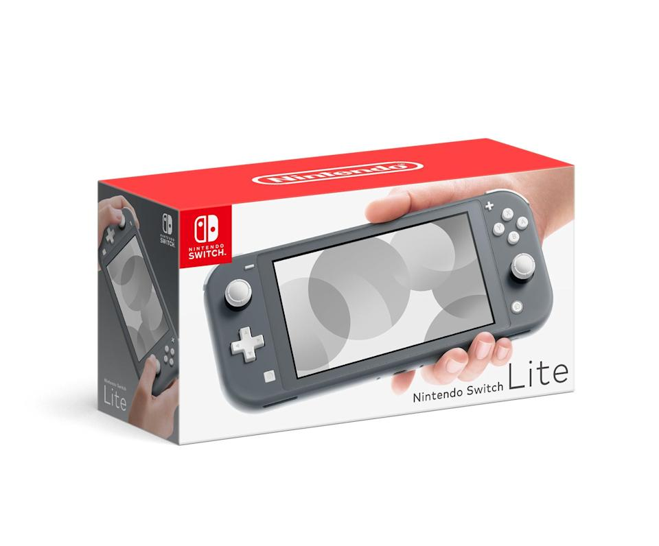 """In case you're unaware, Nintendo Switch consoles have been selling out like hotcakes. New drops are snatched up almost immediately. But you can get your hands on the next best thing, the Nintendo Switch Lite. <br><br><strong>Nintendo</strong> Nintendo Switch Lite Console, $, available at <a href=""""https://go.skimresources.com/?id=30283X879131&url=https%3A%2F%2Fwww.walmart.com%2Fip%2FNintendo-Switch-Lite-Console-Gray%2F907697007"""" rel=""""nofollow noopener"""" target=""""_blank"""" data-ylk=""""slk:Walmart"""" class=""""link rapid-noclick-resp"""">Walmart</a>"""