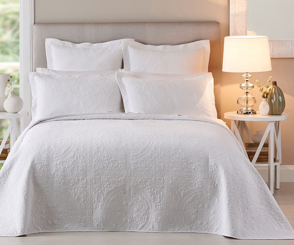 This elegant bedspread will transform your bedroom. Photo: Bed Bath N Table