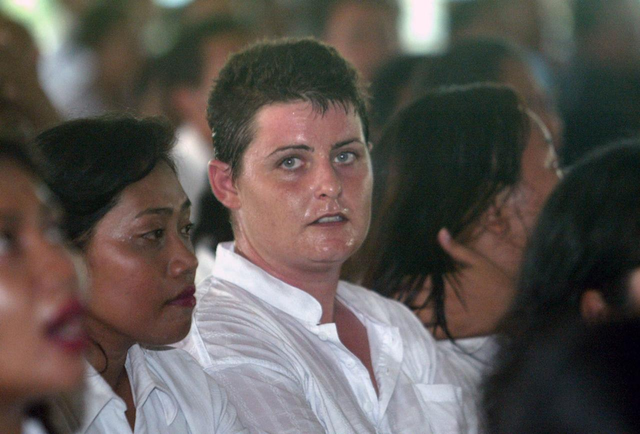 <p>Lawrence attending a Christmas celebration at Kerobokan Prison in 2006. Photo: AAP </p>