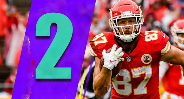 <p>The scary thing about the dominant win against the Jaguars is the Chiefs' defense played its best game. If the defense can make a few big plays each week like it did Sunday the Chiefs can go to another level. (Travis Kelce) </p>