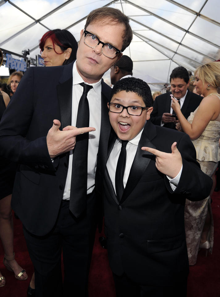 Rainn Wilson and Rico Rodriguez at the 19th Annual Screen Actors Guild Awards at the Shrine Auditorium in Los Angeles, CA on January 27, 2013.