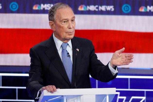 Democratic presidential candidate and former New York City mayor Mike Bloomberg speaks during the Democratic presidential primary TV debate.