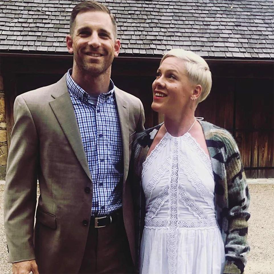 "<a href=""https://people.com/music/pink-day-without-criticizing-someone-online/"">Pink</a>'s brother, Lt. Col. Jason Moore (that's right, he's a military man!) made many commenters stand up and salute when the singer shared a photo of her big brother during a family reunion. It's clear that she looks up to him (literally and figuratively)."