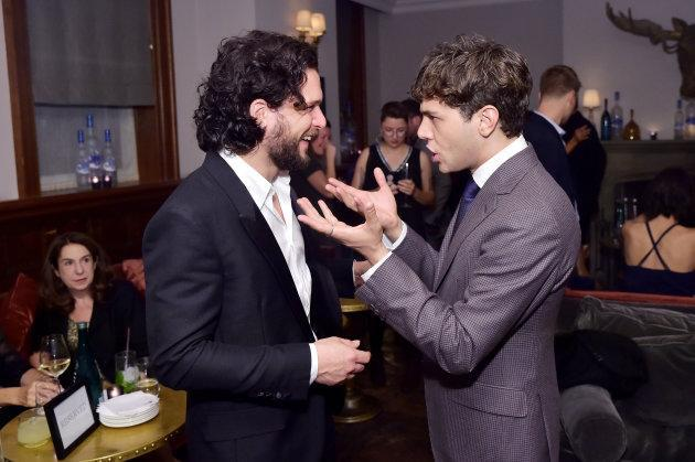 "Kit Harington and Xavier Dolan at ""The Death and Life of John F. Donovan"" premiere party in Toronto."