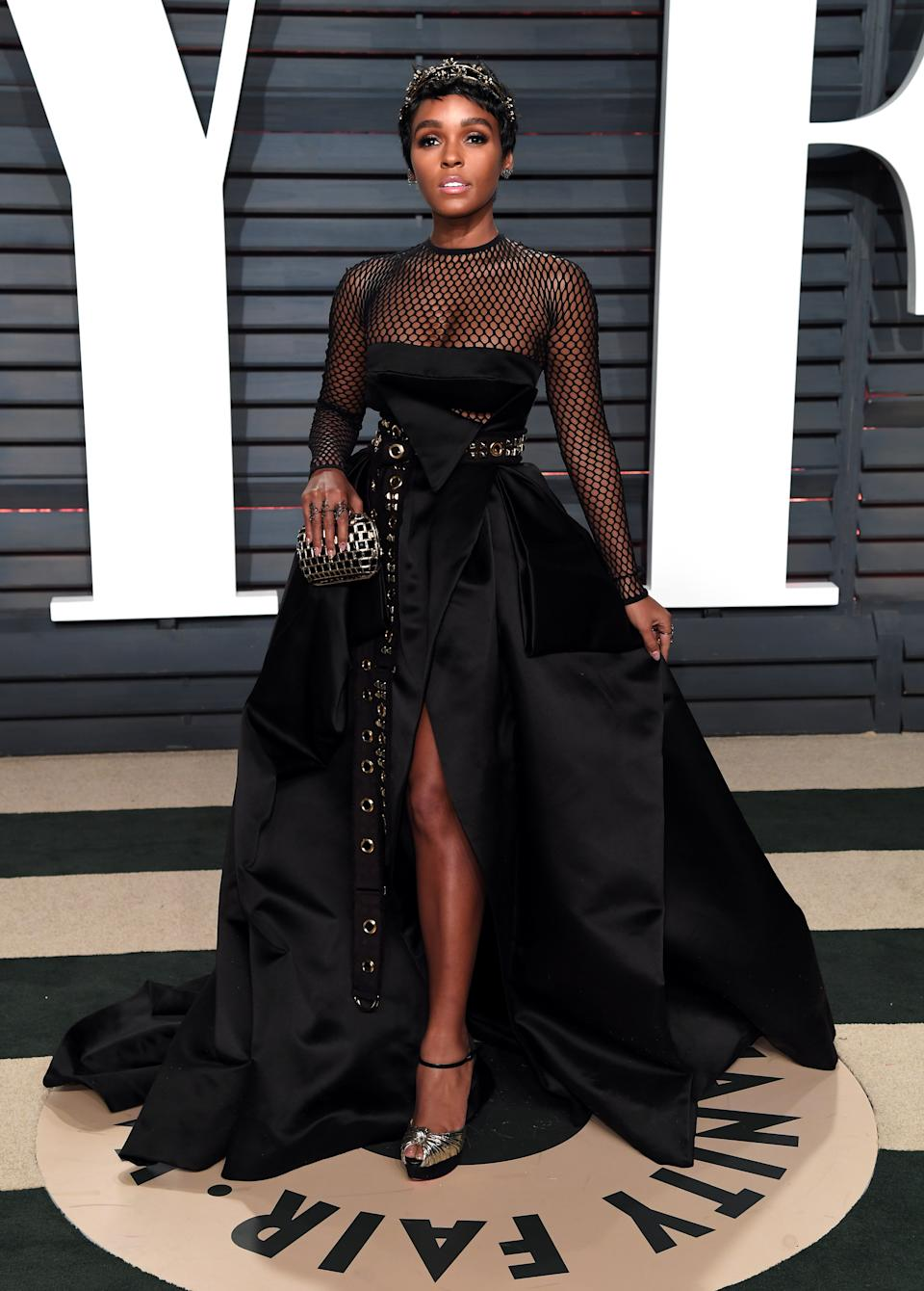 Janelle Monae at the Vanity Fair Oscar Party [Photo: Getty]