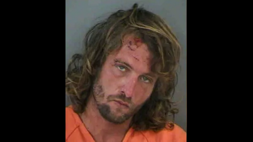 Ben Padgett was arrested outside a Florida Olive Garden. (Photo: Naples Police Department/NBC2)