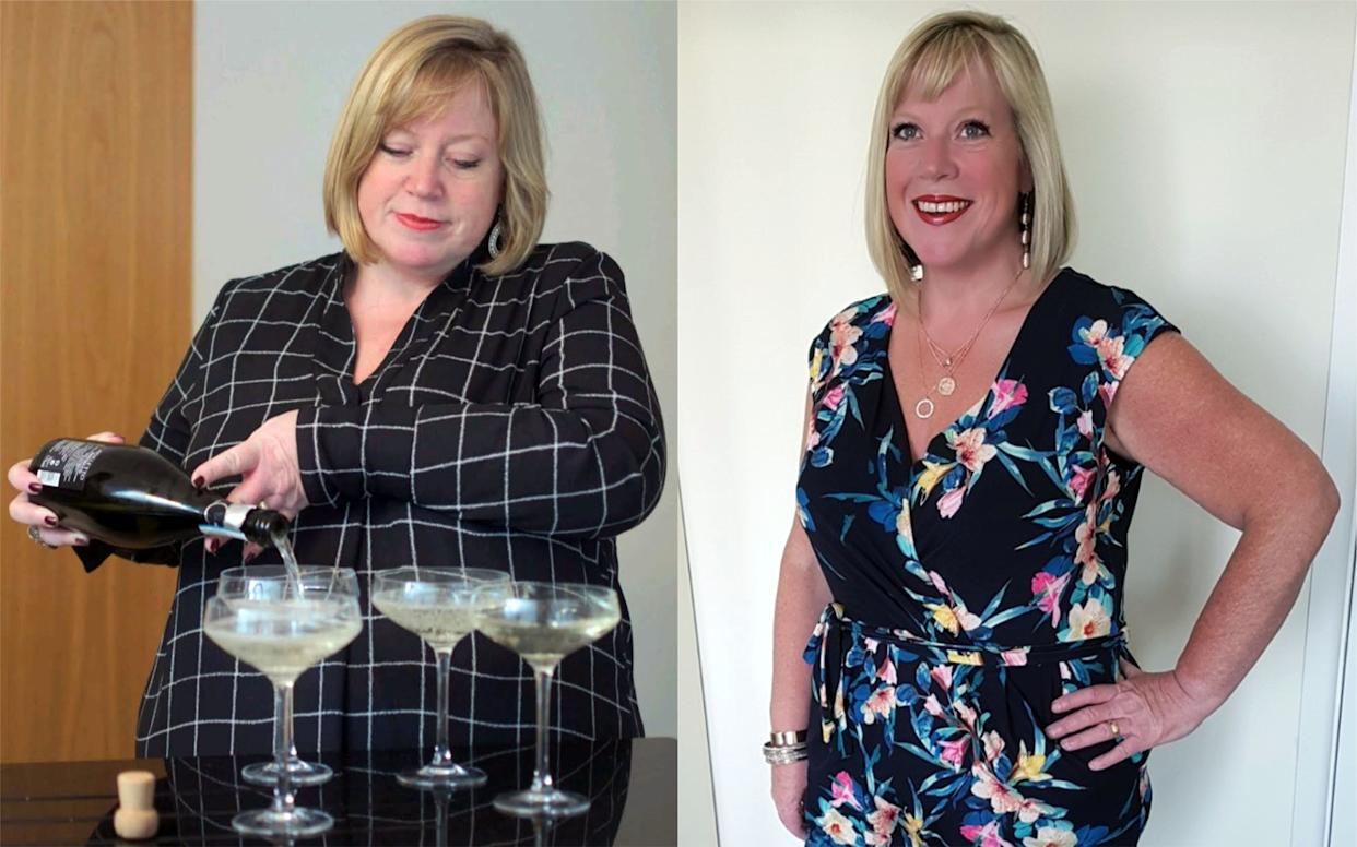 A mother-of-four lost six stone after being body-shamed at her mum's funeral [Photo: Caters]