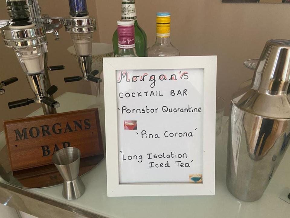 Beverages provided included the 'Pornstar Quarantine', the 'Pina Corona' and the 'Long Isolation Iced Tea' (SWNS)