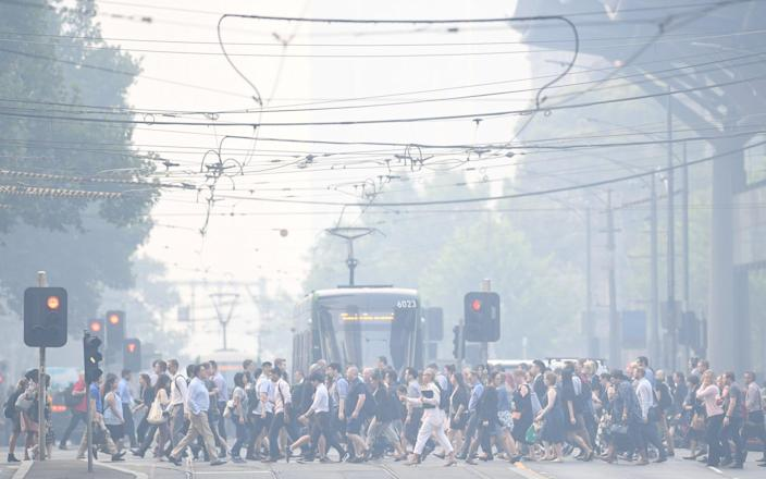 Air quality in Melbourne, Australia's second-biggest city, dropped to the