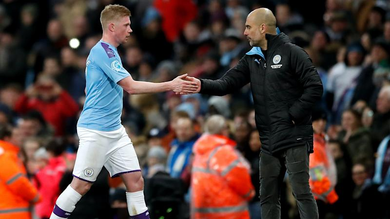 Pep Guardiola 'so proud' of Kevin De Bruyne after PFA player of the year win