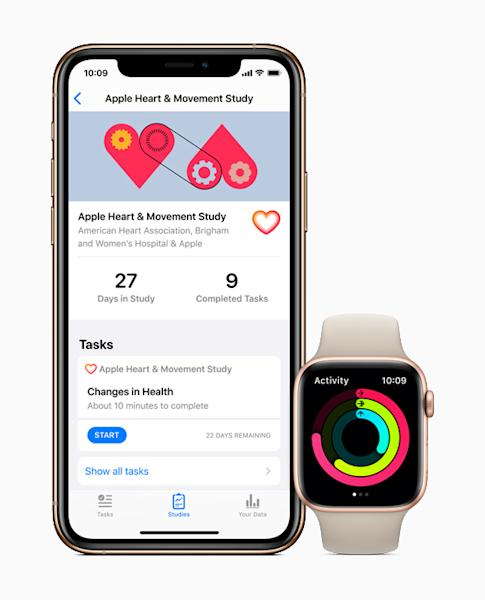 Apple users can choose to participate in the Heart and Movement Study through the Research app.