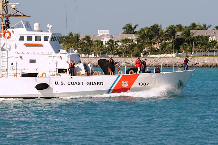 <p>The US Coast Guard is searching for survivors after a boat overturned in Key West, Florida</p> (AFP via Getty Images)