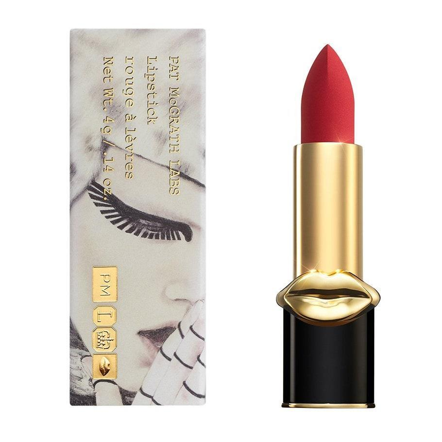 """<p>By now, we all know that Pat McGrath's lipsticks are of <em>elite</em> quality. Medhin loves to use Elson 2, a gorgeous orange-red on her medium-skinned clients. This one (like all of Pat McGrath Labs's Matte Trance Lipsticks) packs a powerful pigmented punch with just one swipe.</p> <p><strong>$38</strong> (<a href=""""https://shop-links.co/1720227380603799420"""" rel=""""nofollow noopener"""" target=""""_blank"""" data-ylk=""""slk:Shop Now"""" class=""""link rapid-noclick-resp"""">Shop Now</a>)</p>"""