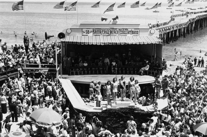 The Santa Cruz Boardwalk hosted the first Miss California in 1924 when Oakland's 18-year old Fay Lanphie won the title. She went on to win the Miss America Pageant in 1925. Photo: Santa Cruz Life